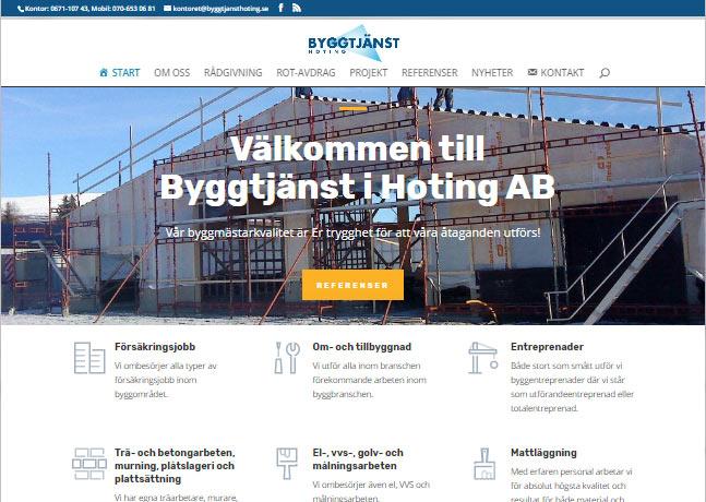 Nystart på hemsida